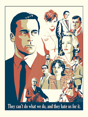 "Mad Men Screen Print ""They Can't Do What We Do..."" by Jim MacLeod"