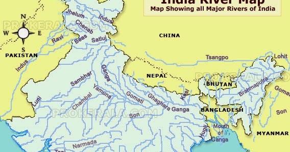 RIVERS IN INDIA  TNPSC