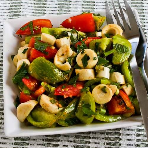 Colorful Tomato Salad with Hearts of Palm, Mint, and Spicy Thai ...