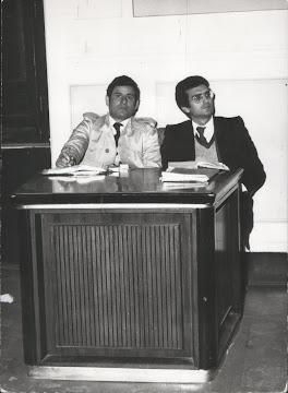 1970 - Con l'avvocato Vittorio Giaquinto in Corte di Assise