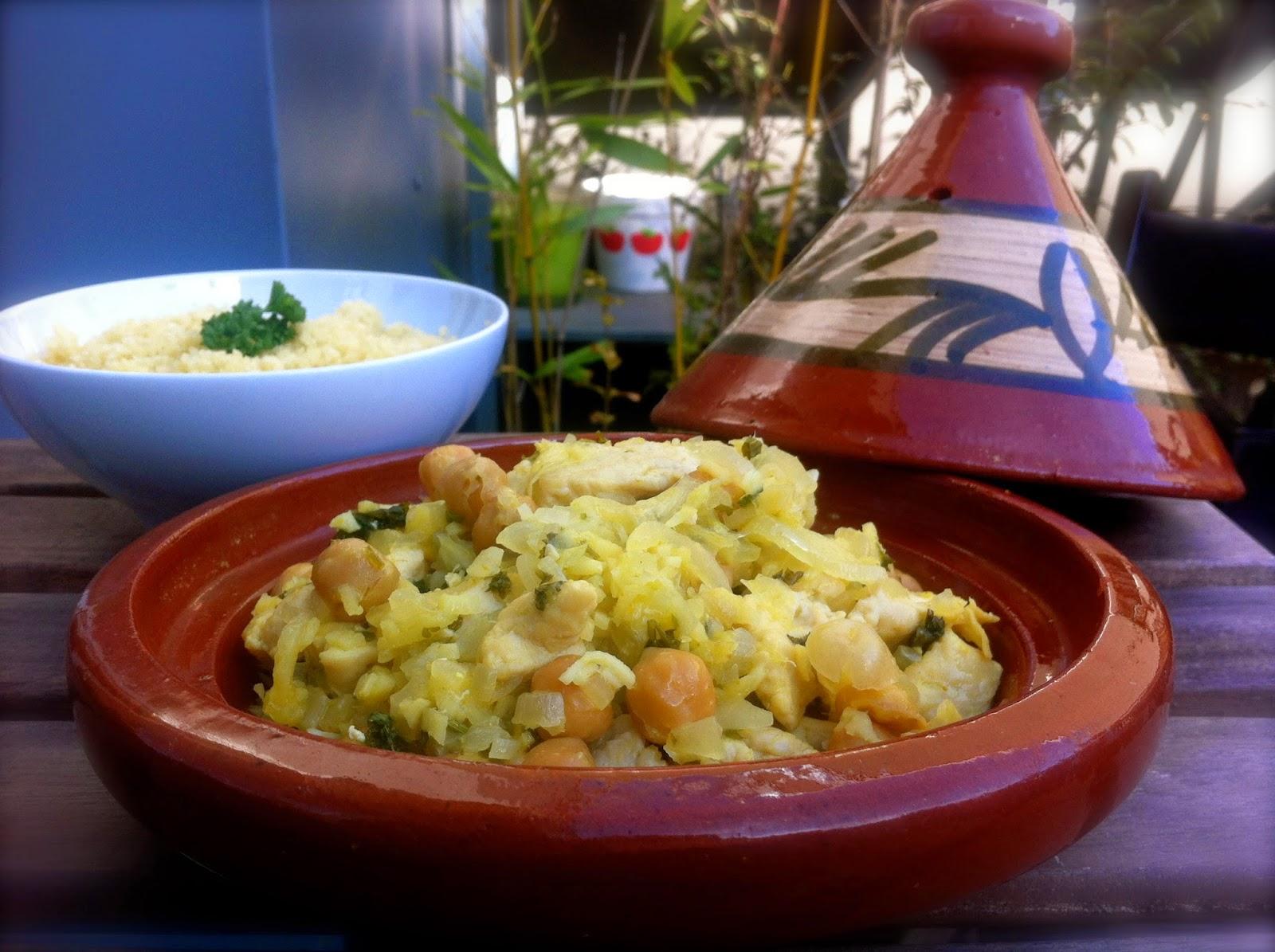 maroc tajine plat rapide gingembre citron poulet