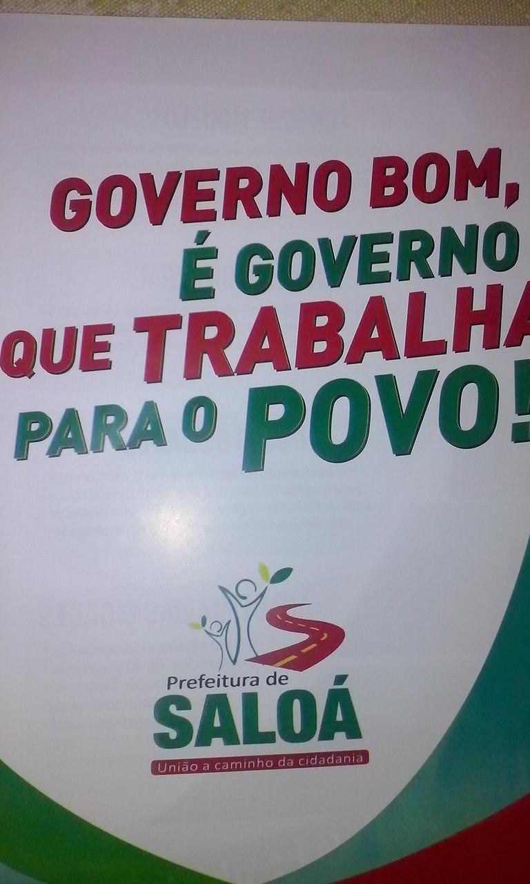 Governo Bom é governo que trabalha para o povo