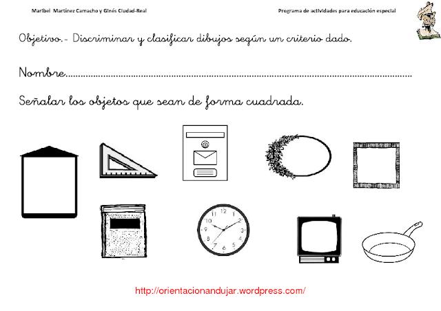 ACTIVIDADES PARA EDUCACIÓN ESPECIAL