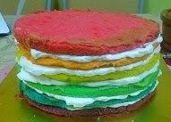 """Rainbow cake @ RM60 (7"""")"""