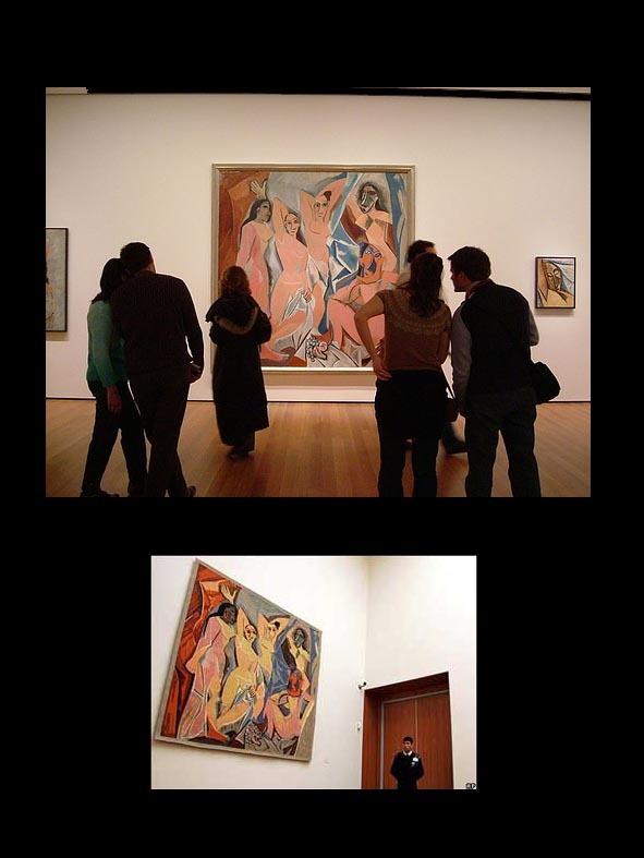 guernica vs les demoiselles Pablo picasso guernica, 1937 oil on canvas museo nacional del prado,  pablo picasso les demoiselles d'avignon 1944 oil on canvas museum of modern art.