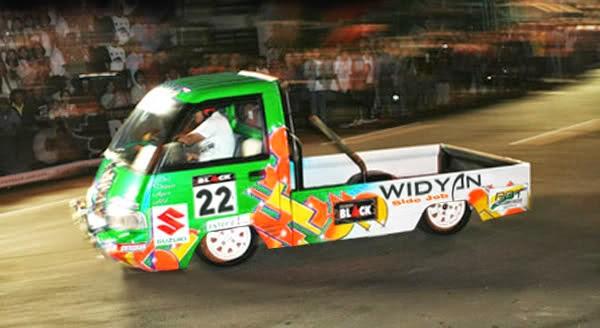 modifikasi modifikasi mobil pick up slalom