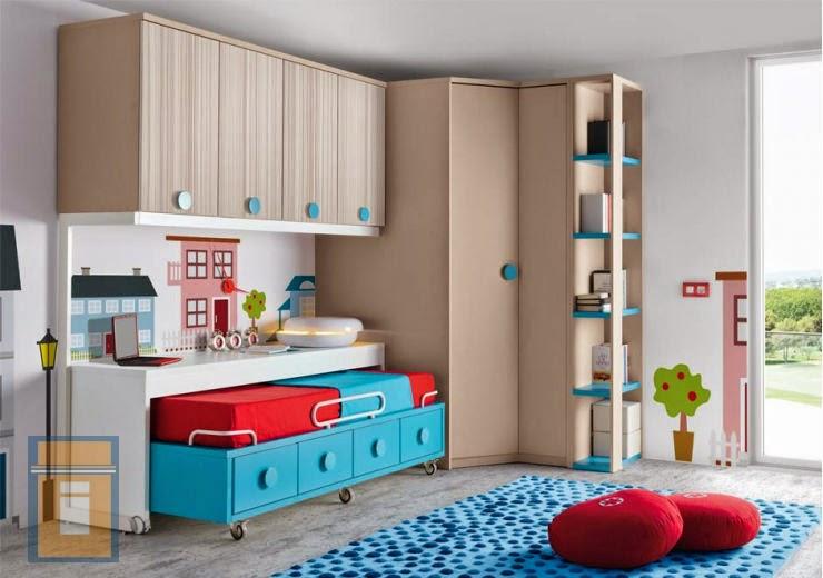Armimobel muebles con vida dormitorios juveniles e - Aprovechar espacios pequenos dormitorios ...