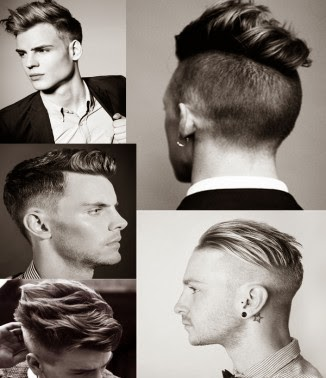 rambut undercut slick back
