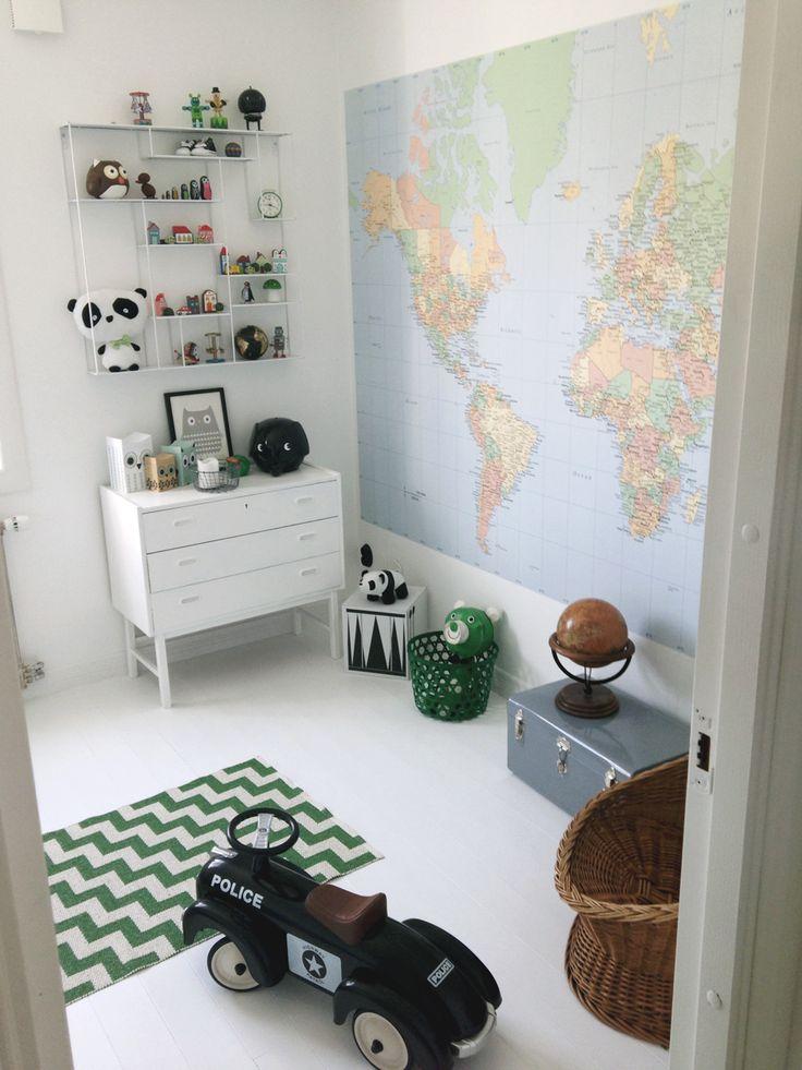 Motyw dekoracyjny we wnu0119trzu - Mapa u015awiata - Studio Barw - u015bwiat ...