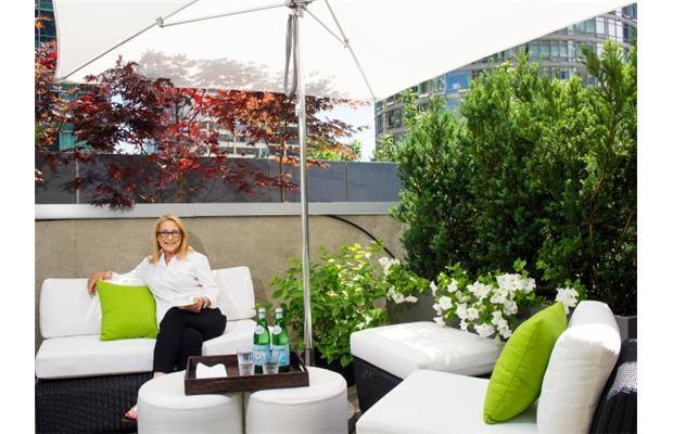 interior designer patricia gray has two roof decks which she has done up as outdoor living spaces - Interior Design Blog Ideas