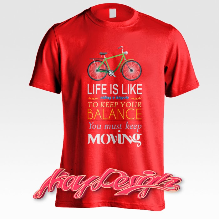 Life is Like Riding a Bicycle T-shirt Red