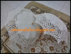 Sewaan payung lace cream - Melaka