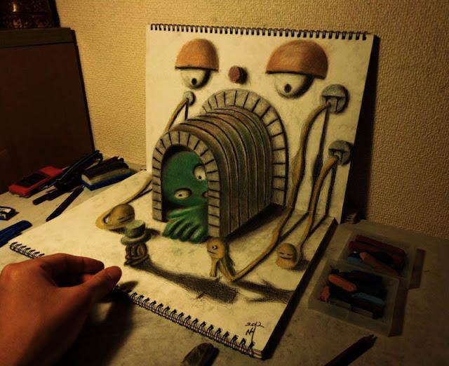 لوحات ثلاثية الأبعاد 3D+Pencil+Drawings+03