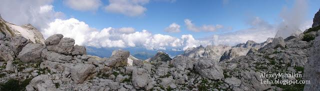 Панорама, перевал и вершины