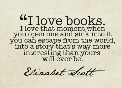 J'aime les livres.