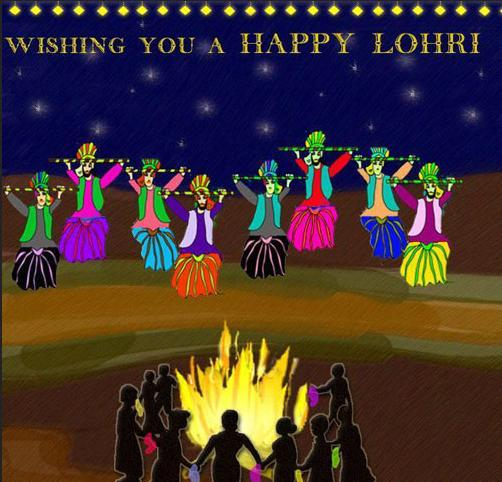 Wishing you happy lohri