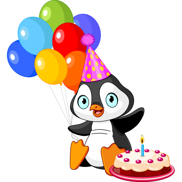 Birthday Party Penguin