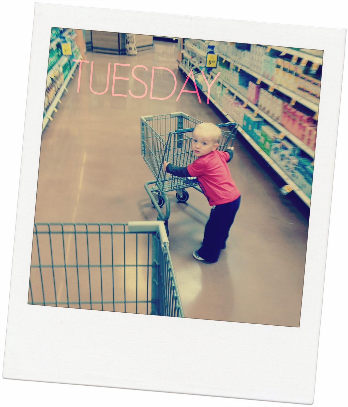 grocery shopping with a toddler