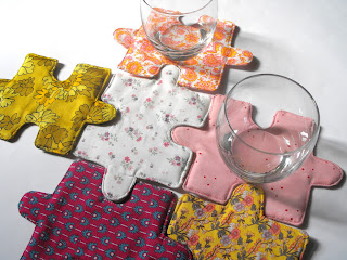 puzzle poháralátét