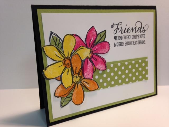 my creative corner a garden in bloom friendship card