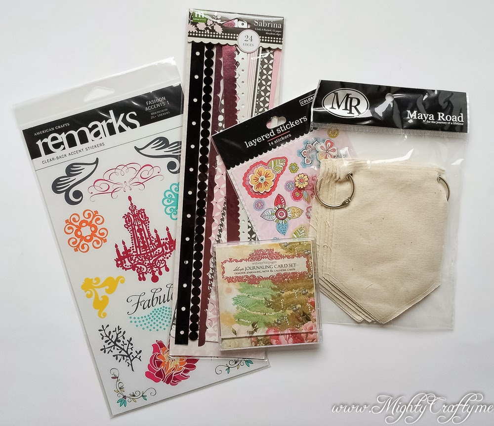 Prize package for Practical Scrappers February Blog Hop