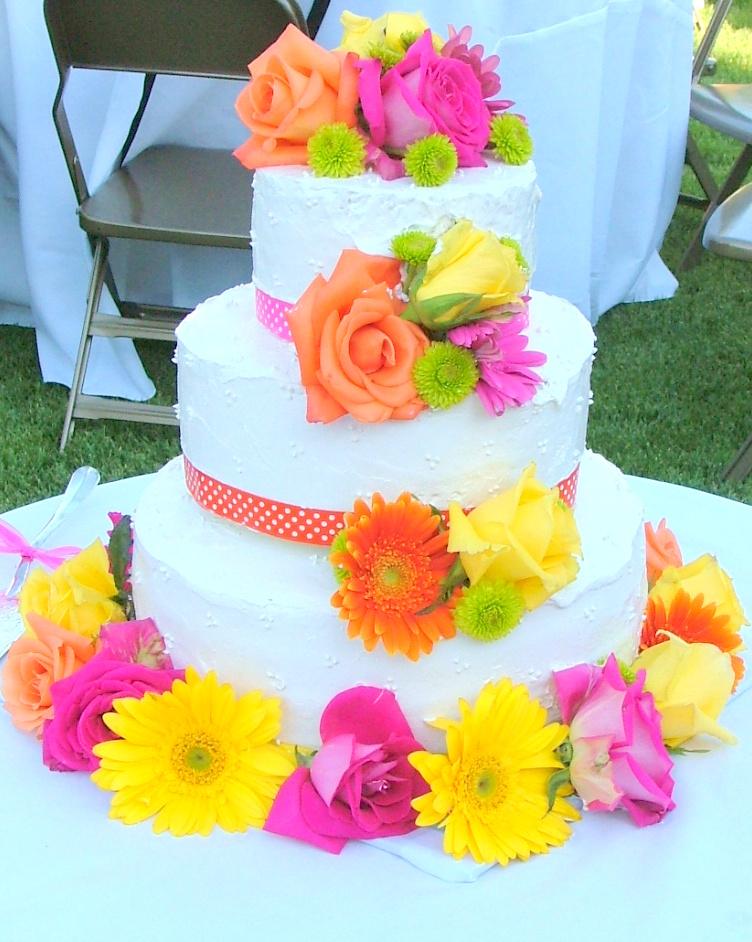 Bright Summer Fun Hot Pink Chartruese Orange Yellow Wedding
