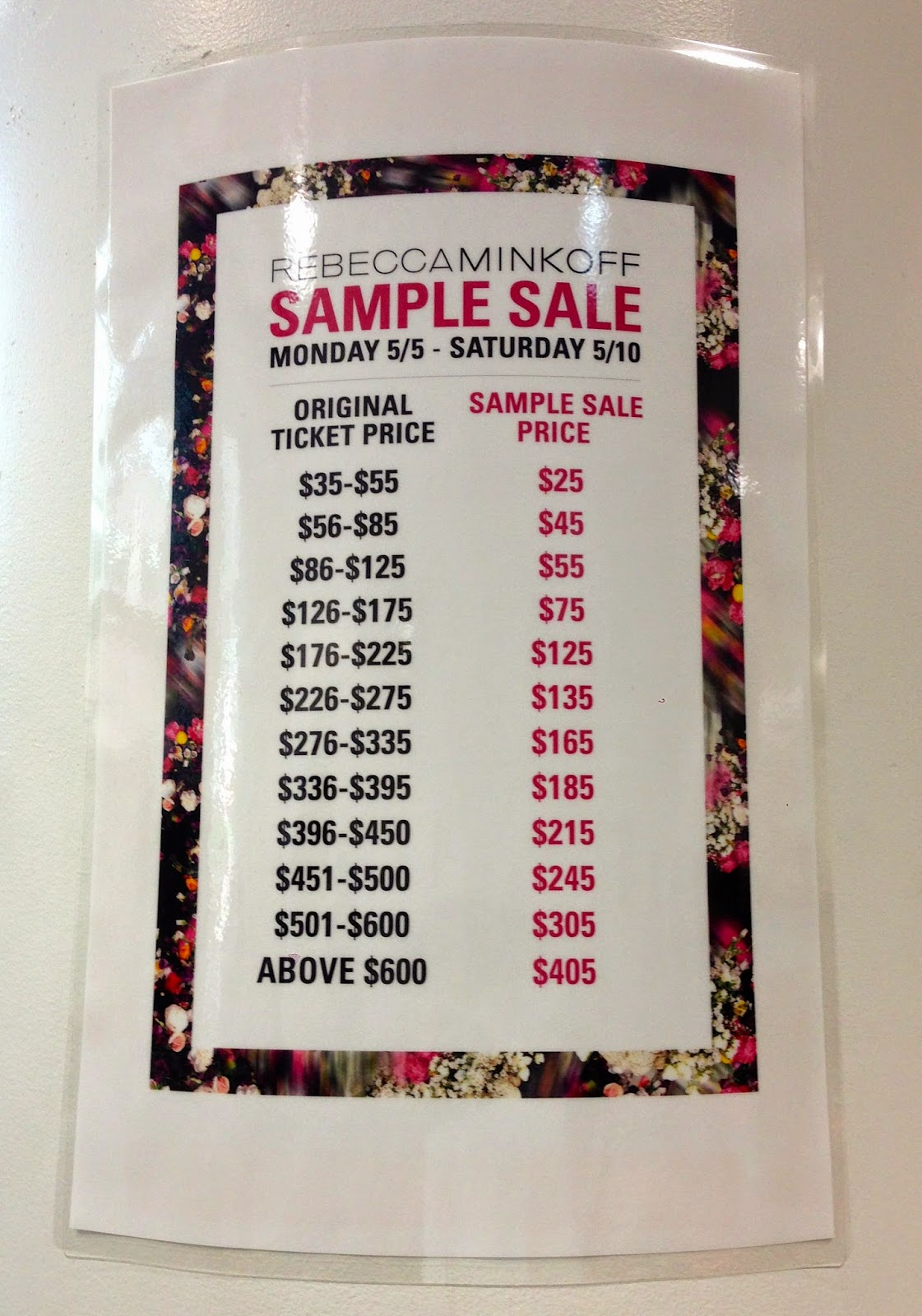 fashionably petite: Rebecca Minkoff Sample Sale - Updated with ...