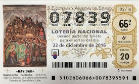 HAY LOTERIA DE NAVIDAD - SUERTE!!!!