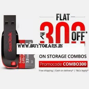 Paytm: Buy Micro SD Cards & Pen Drive combos upto 58% off and Rs. 300 Cashback