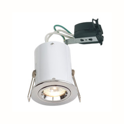 The Aurora DLL991W Aluminium 12V MR16 Fixed Acoustic Rated Fire Protection Downlight