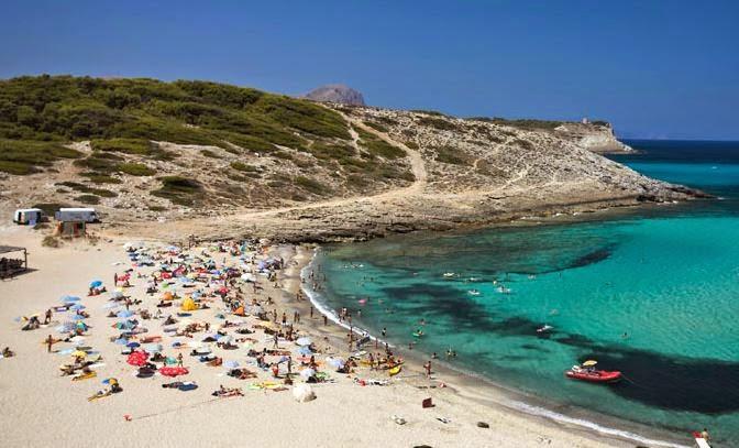 Cala Torta nudist beach in Mallorca