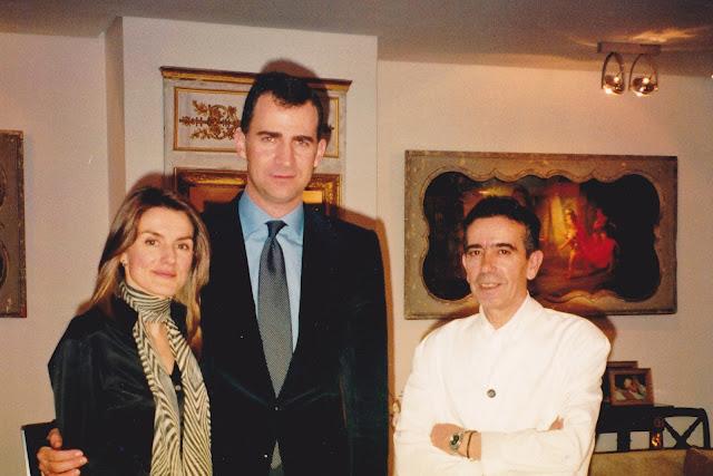 Chuchín con los príncipes en la Zarzuela