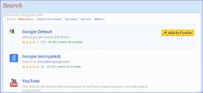 Cara Mengaktifkan Search Pada Mozilla