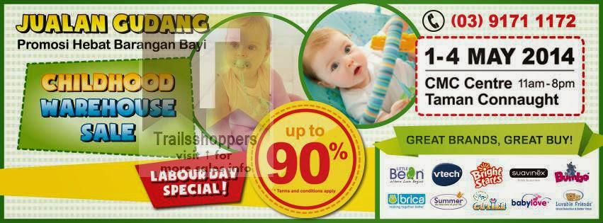 Childhood Warehouse Sale 2014 offers Kuala Lumpur