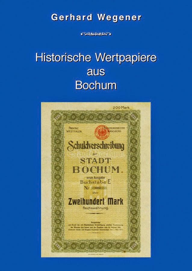 book Historische Wertpapiere aus Bochum - Gerhard Wegener
