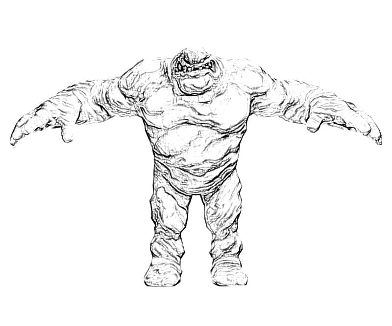 printable-batman-arkham -city-clayface-character-coloring-pages