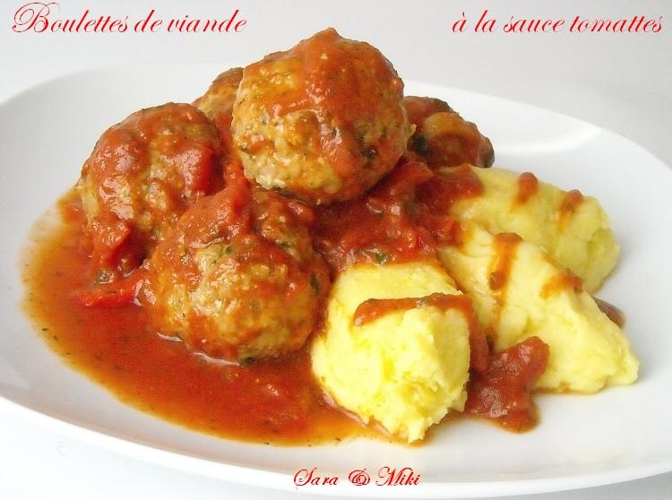 Les plats roumaines boulettes de viande la sauce tomattes - Comment cuisiner les boulettes de viande ...