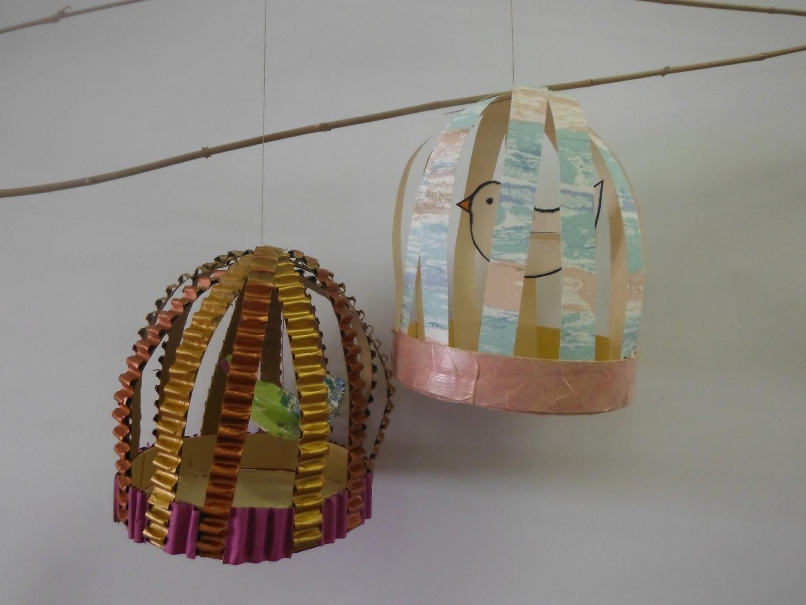 Papier Peint Cage Oiseaux - Cages à oiseaux Design Papillons et fleurs Calligraphie