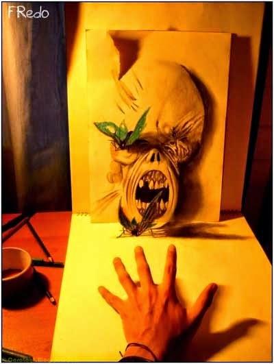 Lukisan Pensil 3D 2