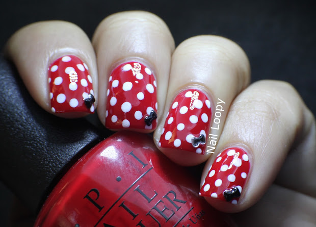nail loopy minnie mouse nails