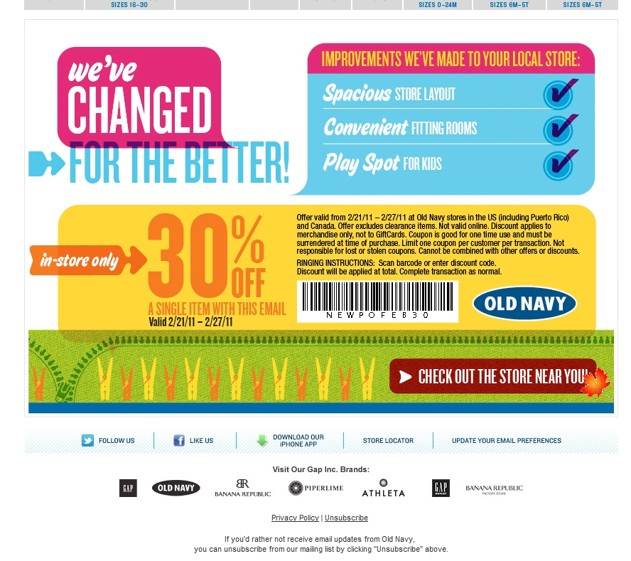 Free old navy online coupons
