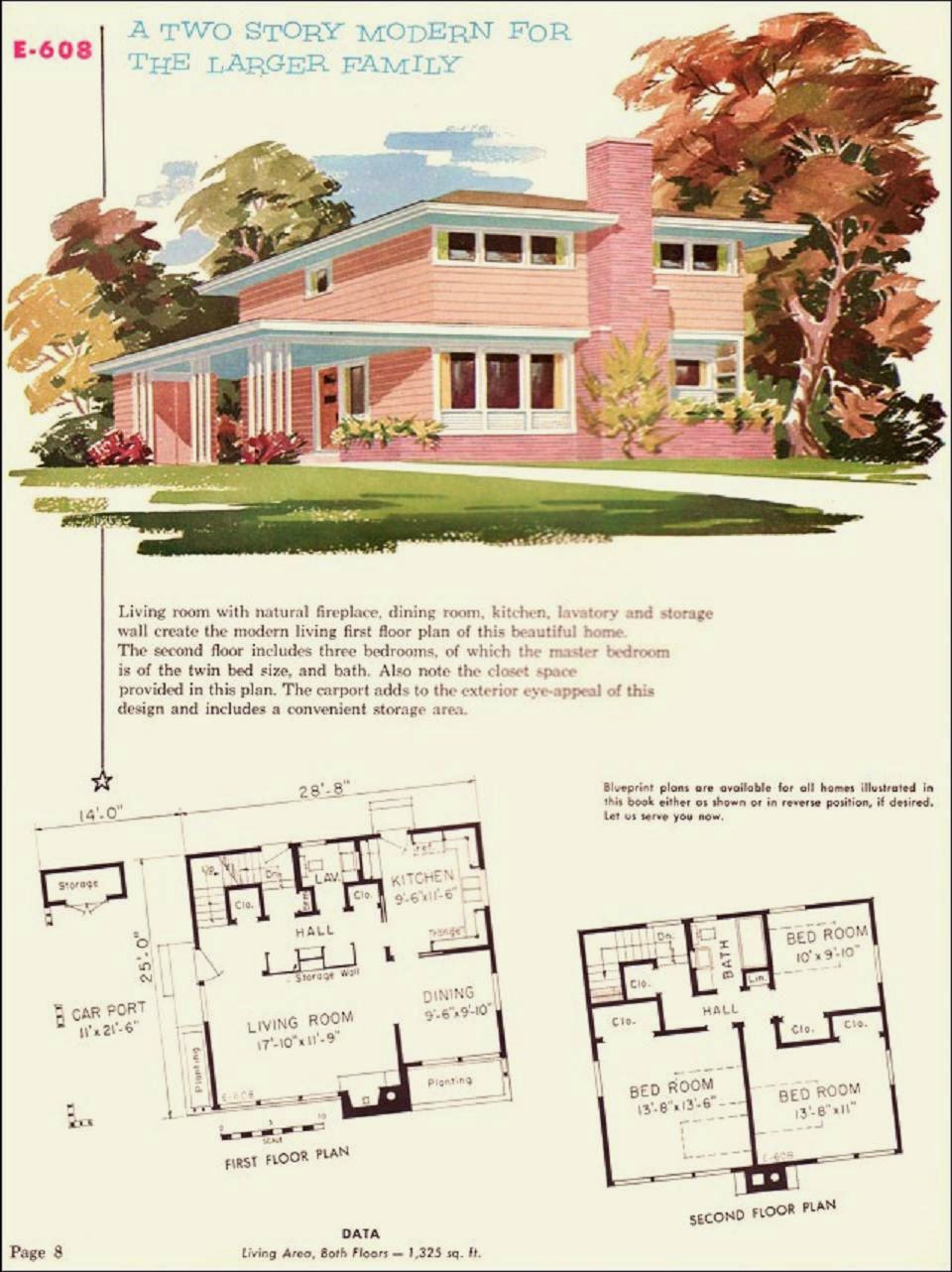 Farm Girl Pink....: ~ Mid Century Homes... The pink two ...