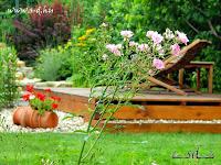pihenés a kertben