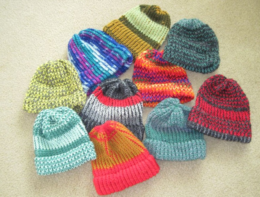 Knitting Scarves For The Homeless : Bridge and beyond stunning hats do more then warm the