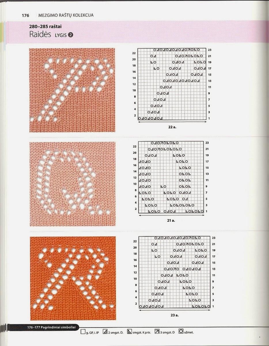 Вязание букв на изделии