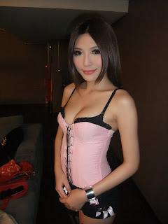 Li Xiao Xing Taiwan Sexy Model Sexy Pink Dress In Night Club 3