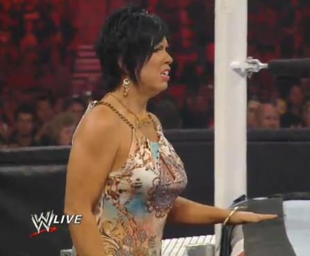 Vickie Guerrero Cougar Necklace muscles glasses...