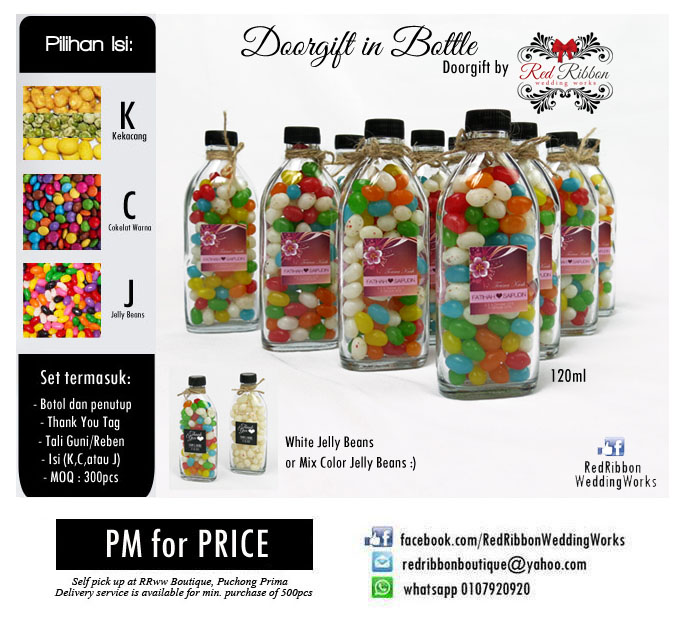 Doorgift hipster botol kacang tali guni rrww your for Idea door gift kahwin