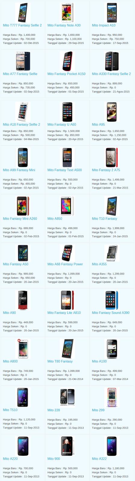 Daftar Terbaru Harga Hp Mito Oktober 2015