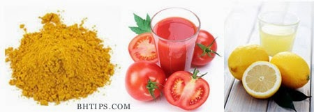 Image result for Turmeric Powder, Tomato Juice, and Lemon Juice